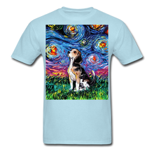 Load image into Gallery viewer, Beagle Night Unisex Classic T-Shirt - powder blue