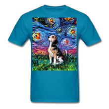 Load image into Gallery viewer, Beagle Night Unisex Classic T-Shirt - turquoise
