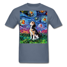 Load image into Gallery viewer, Beagle Night Unisex Classic T-Shirt - denim