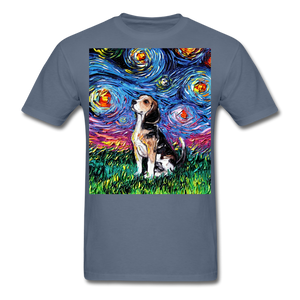Beagle Night Unisex Classic T-Shirt - denim