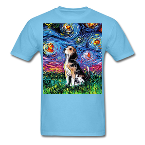 Beagle Night Unisex Classic T-Shirt - aquatic blue