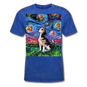 Beagle Night Unisex Classic T-Shirt - mineral royal
