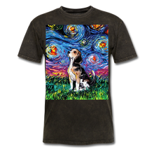 Load image into Gallery viewer, Beagle Night Unisex Classic T-Shirt - mineral black