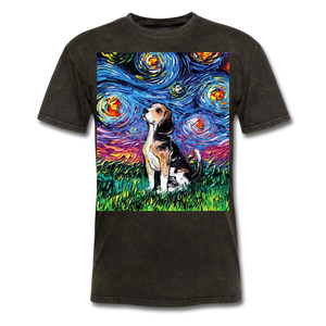 Beagle Night Unisex Classic T-Shirt - mineral black