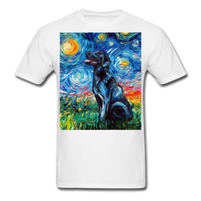 Load image into Gallery viewer, Black Labrador Night Unisex Classic T-Shirt - white
