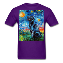 Load image into Gallery viewer, Black Labrador Night Unisex Classic T-Shirt - purple