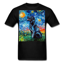 Load image into Gallery viewer, Black Labrador Night Unisex Classic T-Shirt - black