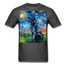 Load image into Gallery viewer, Black Labrador Night Unisex Classic T-Shirt - heather black