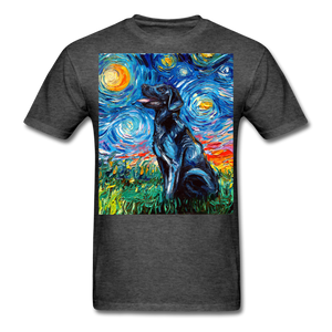 Black Labrador Night Unisex Classic T-Shirt - heather black