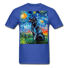 Load image into Gallery viewer, Black Labrador Night Unisex Classic T-Shirt - royal blue
