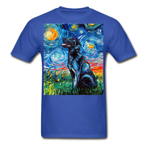 Black Labrador Night Unisex Classic T-Shirt - royal blue