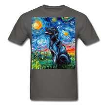 Load image into Gallery viewer, Black Labrador Night Unisex Classic T-Shirt - charcoal