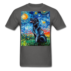 Black Labrador Night Unisex Classic T-Shirt - charcoal