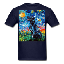 Load image into Gallery viewer, Black Labrador Night Unisex Classic T-Shirt - navy