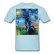 Load image into Gallery viewer, Black Labrador Night Unisex Classic T-Shirt - powder blue