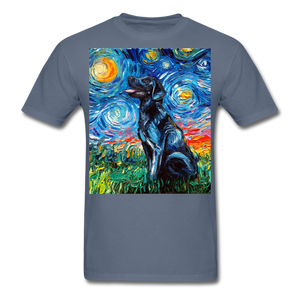 Black Labrador Night Unisex Classic T-Shirt - denim
