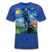 Load image into Gallery viewer, Black Labrador Night Unisex Classic T-Shirt - mineral royal