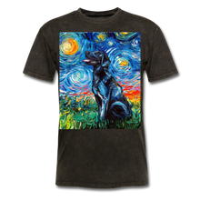 Load image into Gallery viewer, Black Labrador Night Unisex Classic T-Shirt - mineral black