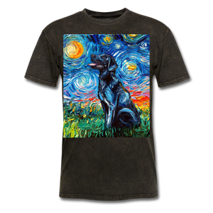 Black Labrador Night Unisex Classic T-Shirt - mineral black