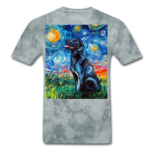 Load image into Gallery viewer, Black Labrador Night Unisex Classic T-Shirt - grey tie dye