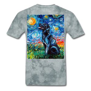 Black Labrador Night Unisex Classic T-Shirt - grey tie dye