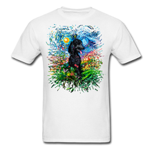 Load image into Gallery viewer, Black Poodle Night 2 Splash Unisex Classic T-Shirt - white