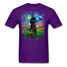 Load image into Gallery viewer, Black Poodle Night 2 Splash Unisex Classic T-Shirt - purple