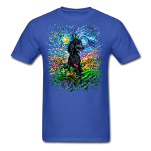 Load image into Gallery viewer, Black Poodle Night 2 Splash Unisex Classic T-Shirt - royal blue