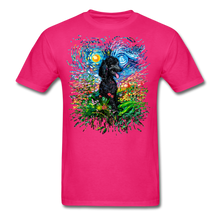 Load image into Gallery viewer, Black Poodle Night 2 Splash Unisex Classic T-Shirt - fuchsia