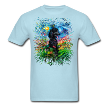Load image into Gallery viewer, Black Poodle Night 2 Splash Unisex Classic T-Shirt - powder blue