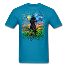 Load image into Gallery viewer, Black Poodle Night 2 Splash Unisex Classic T-Shirt - turquoise