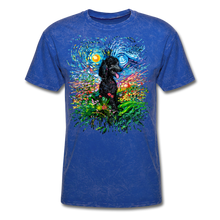 Load image into Gallery viewer, Black Poodle Night 2 Splash Unisex Classic T-Shirt - mineral royal