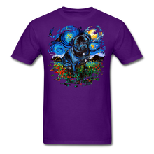 Load image into Gallery viewer, Black Pug Splash Unisex Classic T-Shirt - purple