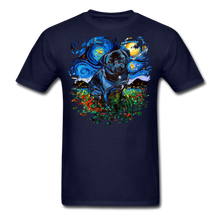 Load image into Gallery viewer, Black Pug Splash Unisex Classic T-Shirt - navy