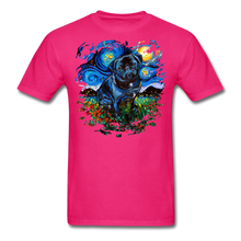 Load image into Gallery viewer, Black Pug Splash Unisex Classic T-Shirt - fuchsia
