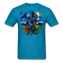 Load image into Gallery viewer, Black Pug Splash Unisex Classic T-Shirt - turquoise