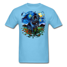Load image into Gallery viewer, Black Pug Splash Unisex Classic T-Shirt - aquatic blue