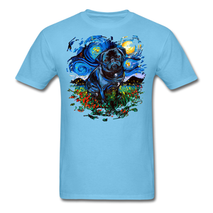 Black Pug Splash Unisex Classic T-Shirt - aquatic blue