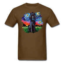 Load image into Gallery viewer, Black Poodle Night Splash Unisex Classic T-Shirt - brown