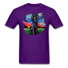 Load image into Gallery viewer, Black Poodle Night Splash Unisex Classic T-Shirt - purple