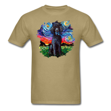 Load image into Gallery viewer, Black Poodle Night Splash Unisex Classic T-Shirt - khaki