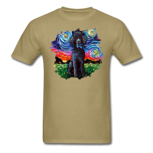 Black Poodle Night Splash Unisex Classic T-Shirt - khaki