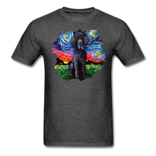 Load image into Gallery viewer, Black Poodle Night Splash Unisex Classic T-Shirt - heather black