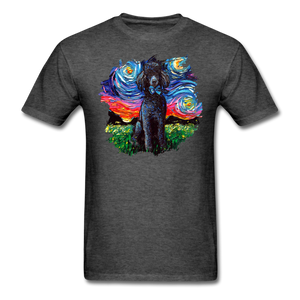 Black Poodle Night Splash Unisex Classic T-Shirt - heather black