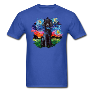 Black Poodle Night Splash Unisex Classic T-Shirt - royal blue