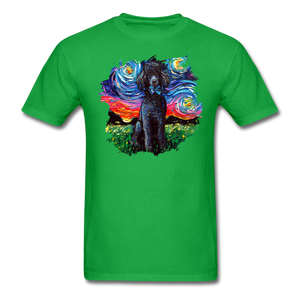 Black Poodle Night Splash Unisex Classic T-Shirt - bright green