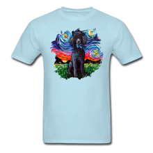 Load image into Gallery viewer, Black Poodle Night Splash Unisex Classic T-Shirt - powder blue