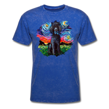 Load image into Gallery viewer, Black Poodle Night Splash Unisex Classic T-Shirt - mineral royal