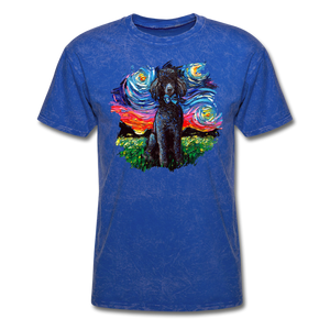 Black Poodle Night Splash Unisex Classic T-Shirt - mineral royal