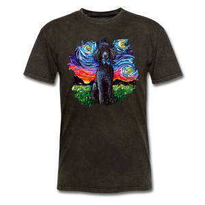 Black Poodle Night Splash Unisex Classic T-Shirt - mineral black